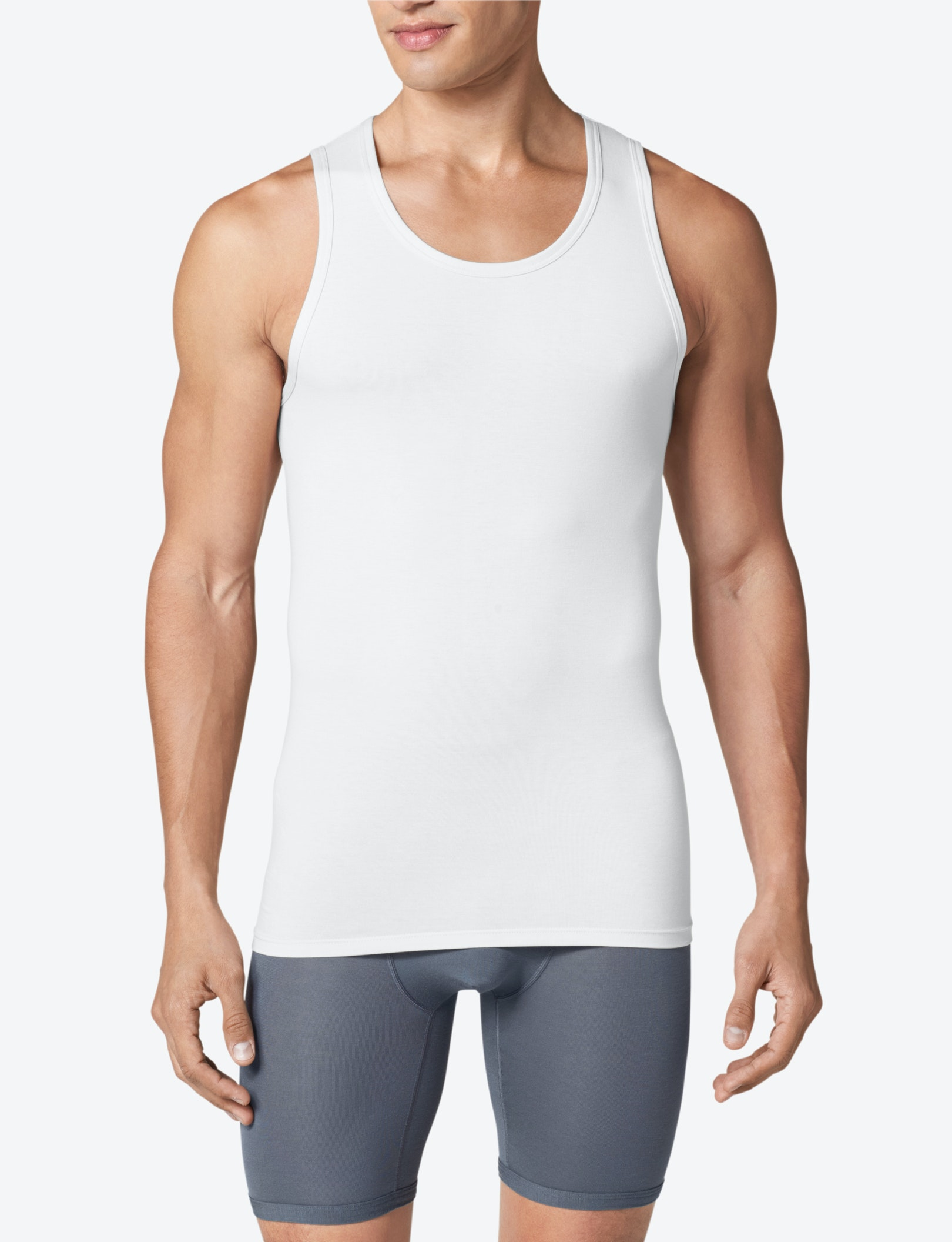Cool Cotton Tank Stay Tucked Undershirt Cool Undershirts