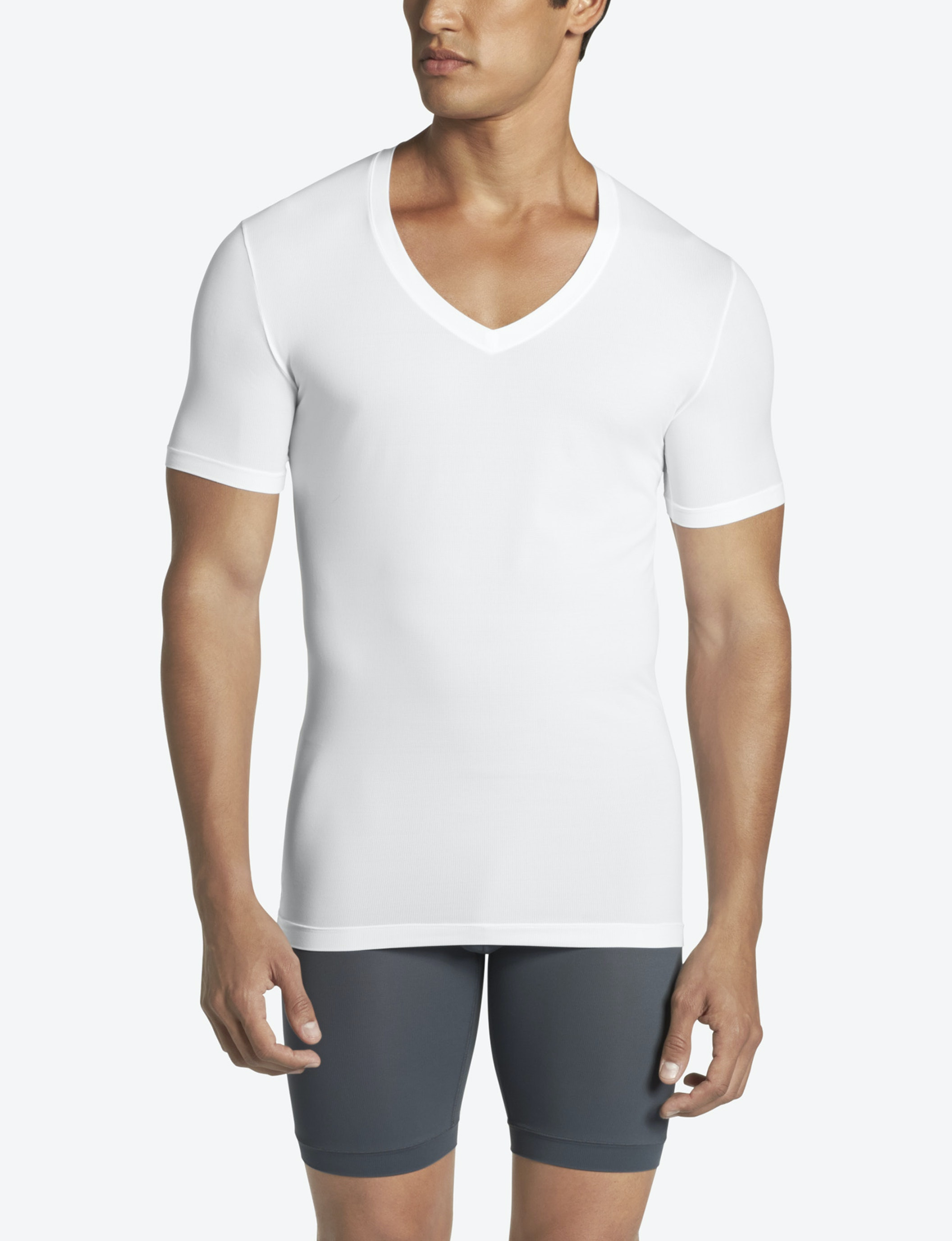 Low Cut Mens V Neck T Shirts