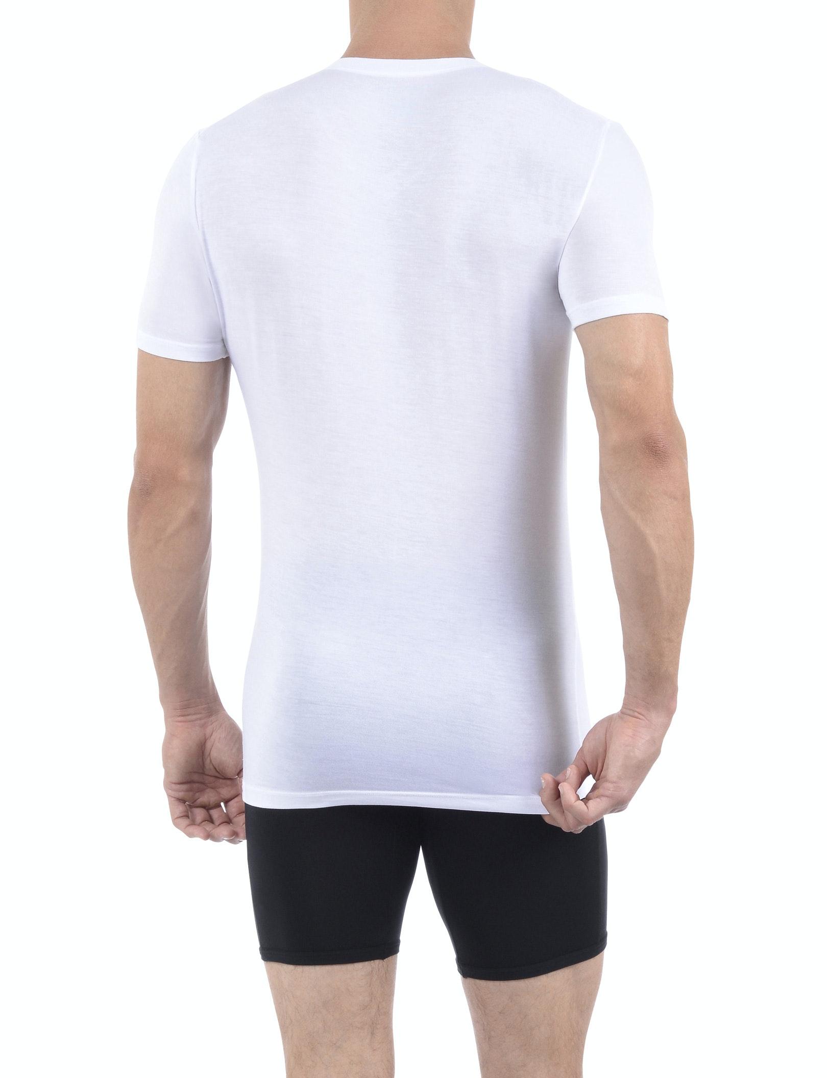 White V-Neck