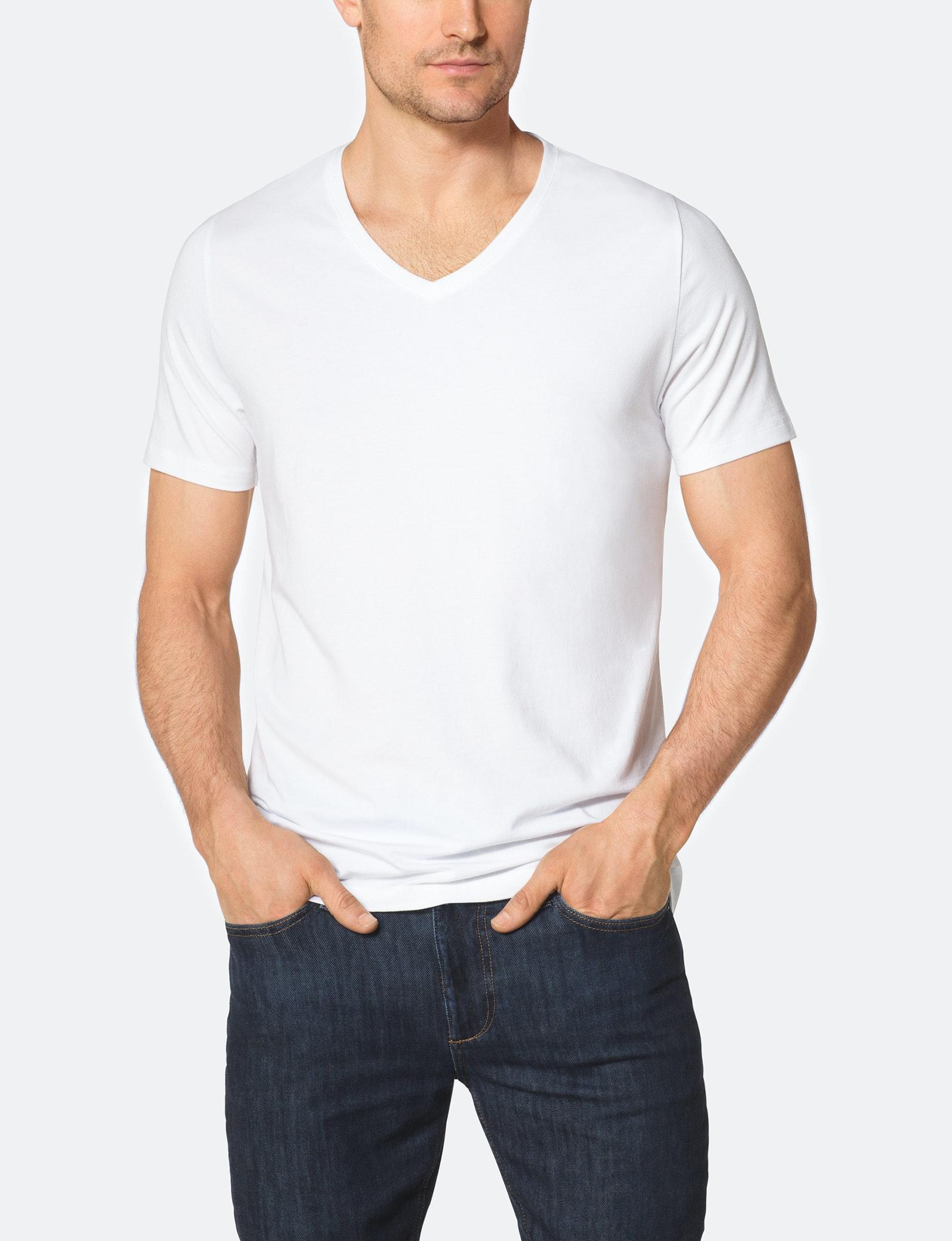 Mens Deep V Neck T Shirts