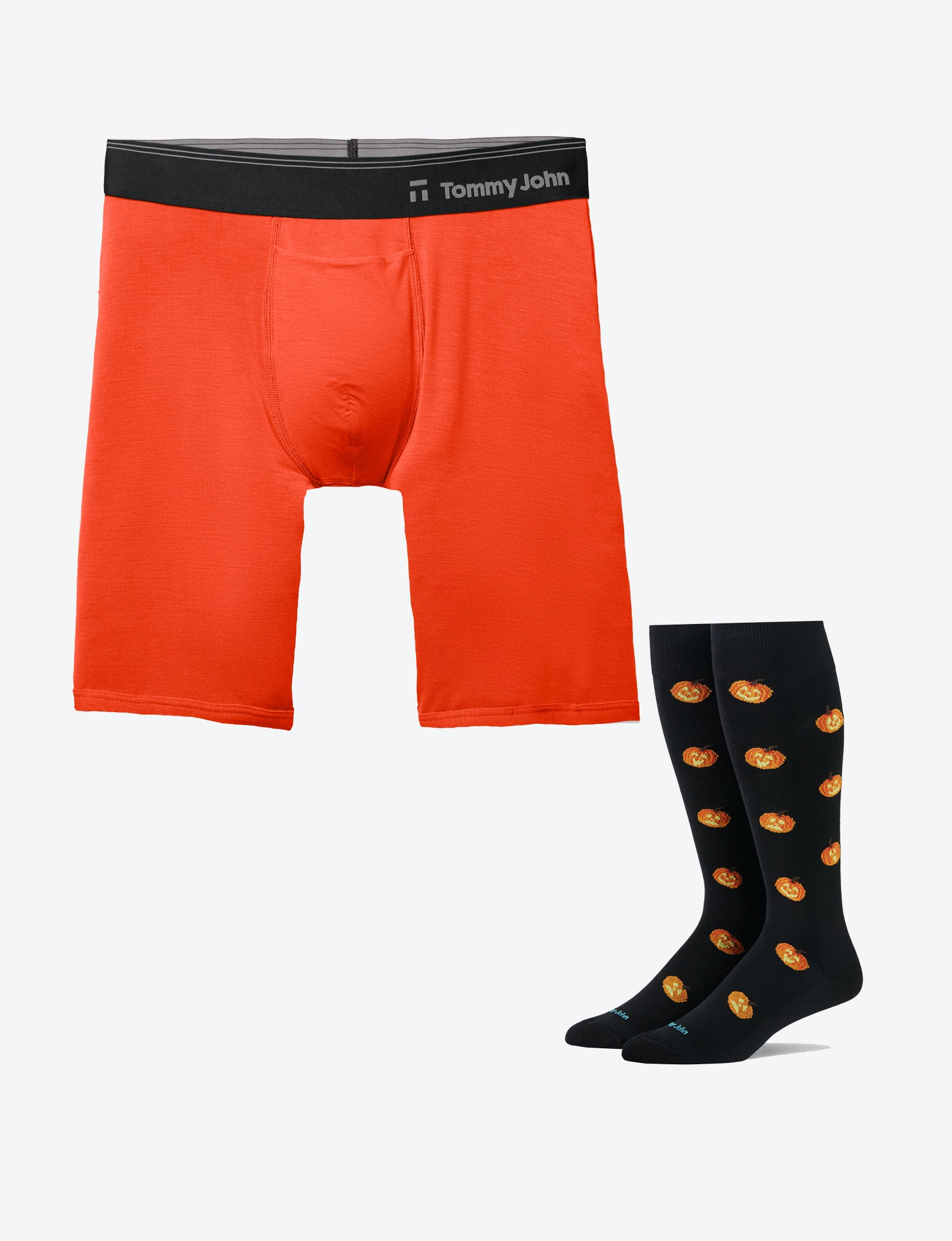 Image of Second Skin Boxer Brief and Spooky Sock Set