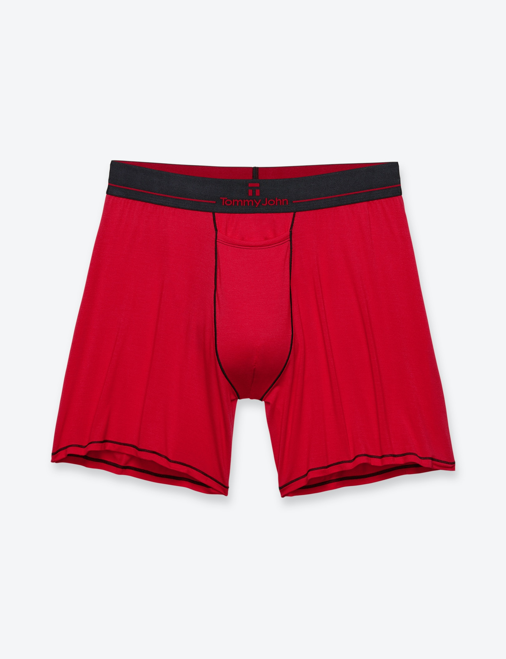 Image of Second Skin Contrast Stitch Relaxed Fit Boxer