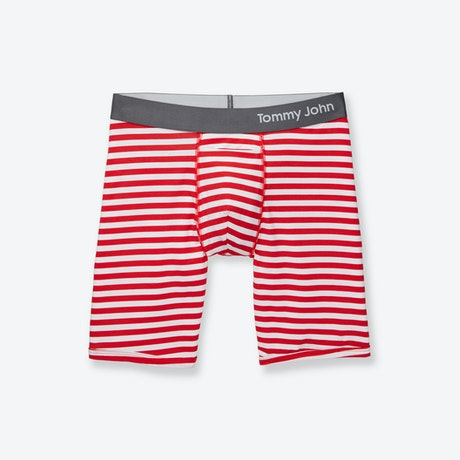 image of valentines day cool cotton stripe boxer brief